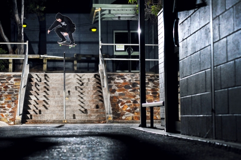 Jake Hayes Ollie Over Fs Lipslide ( low res )